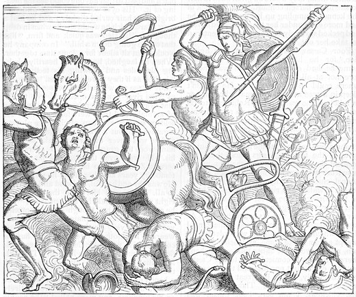A literary analysis of the role of goddesses and gods in the iliad by homer