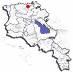 Alaverdi (including Sanahin) location
