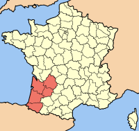 Location of Aquitaine