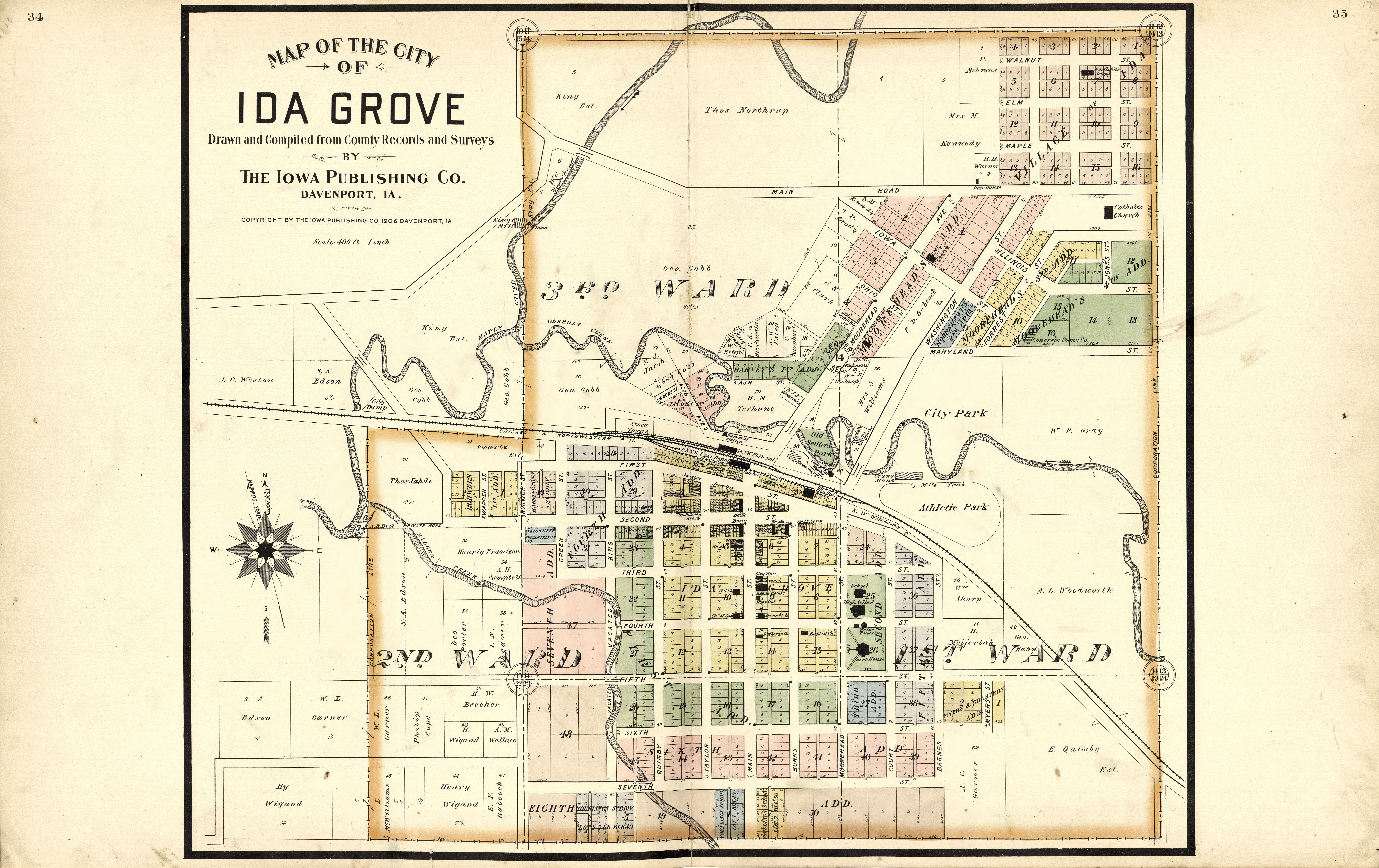State Of Iowa Map With Cities.File Atlas Of Ida County Iowa Containing Maps Of Villages Cities
