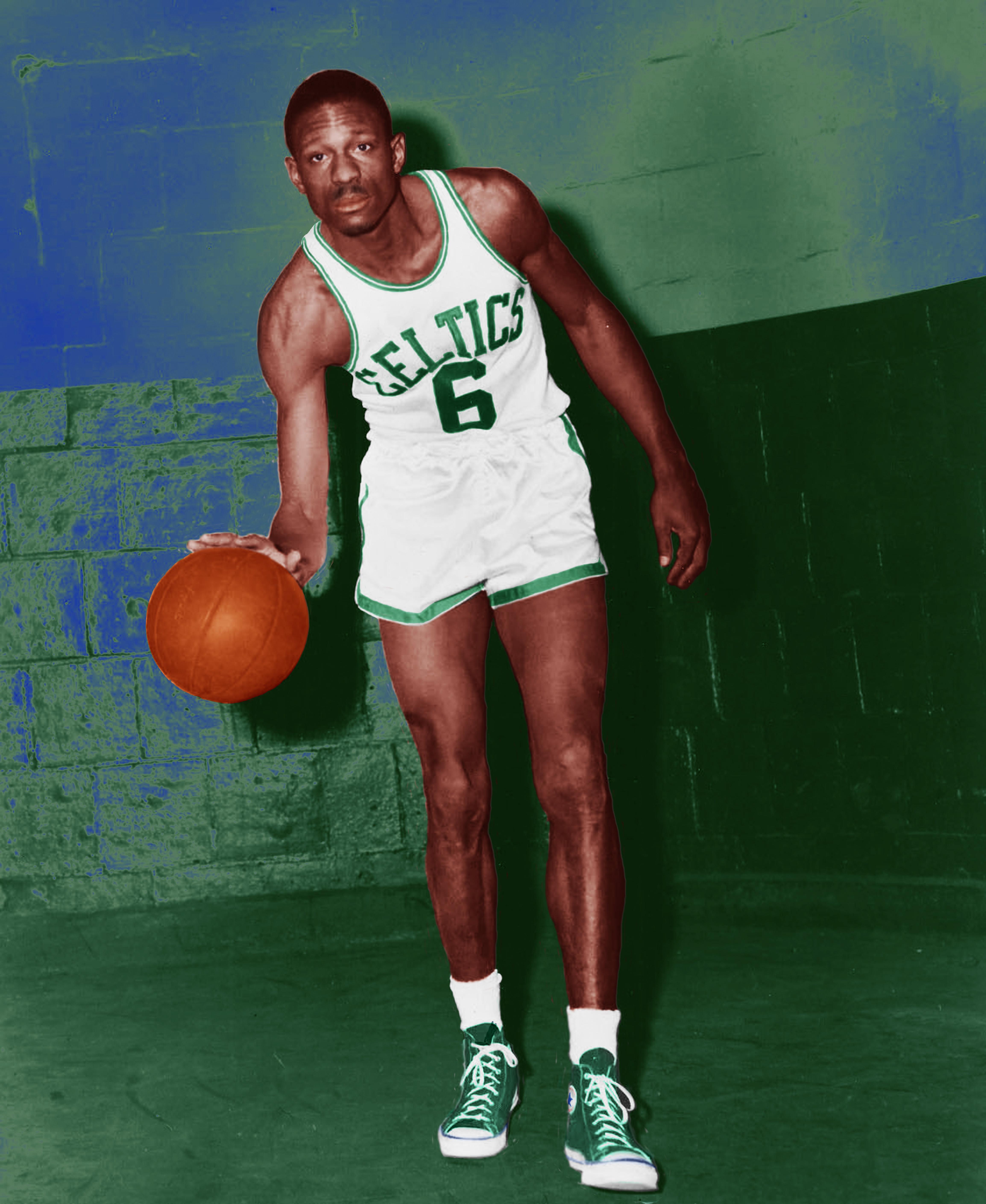 File Bill Russell dribbling Boston Celtics Wikimedia mons