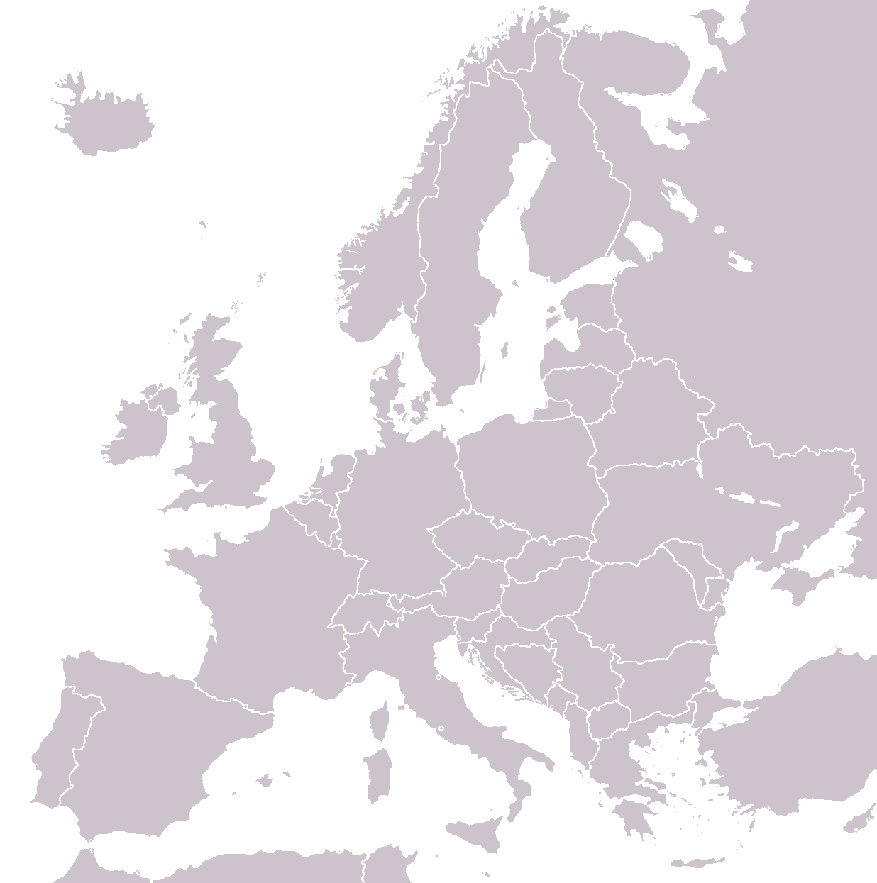 europe map template