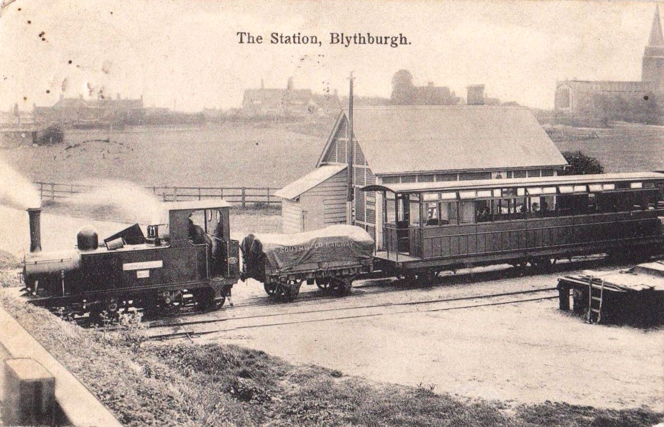 Blythburgh railway station %28postcard%29 - The Southwold Railway