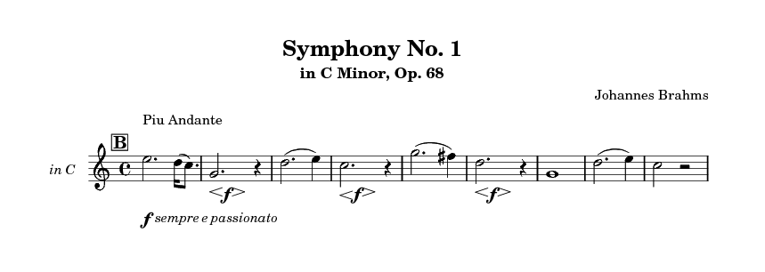 Horn Solo in Fourth Movement.