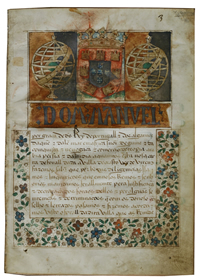 Foral charter in which grants privileges to the town or village