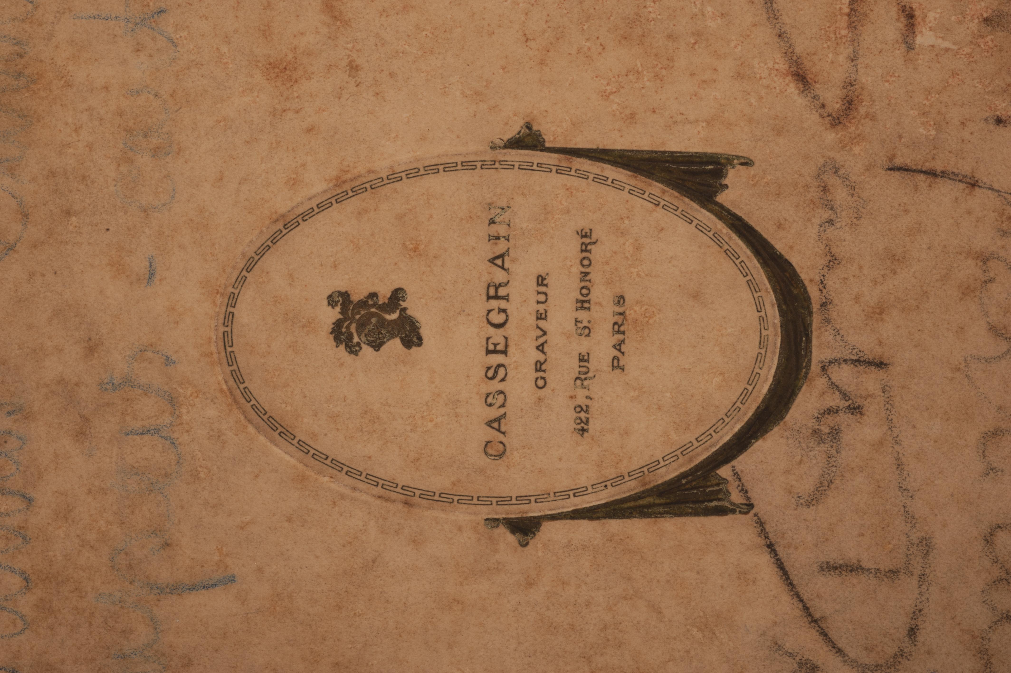 149 Rue Saint Honoré file:caixa de papel de cartas, acervo do museu paulista da