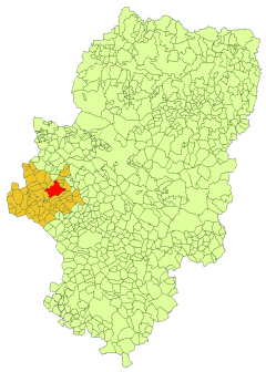 Location in Aragon