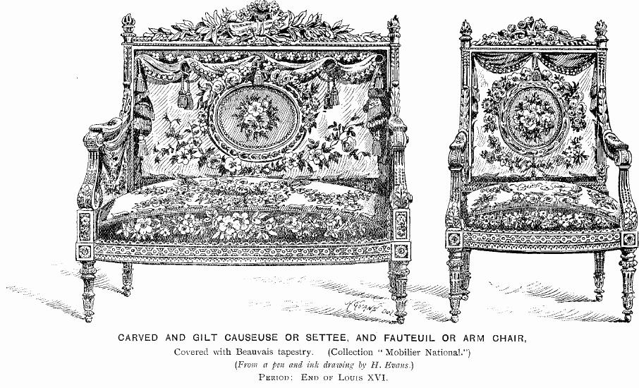 Filecarved and gilt settee and arm chair jpg