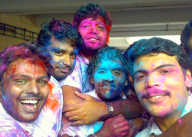 Holi celebrations at College of Engineering, Adoor Kerala