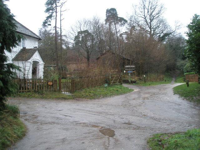 Chantry Cottage by entrance to Chantry Wood - geograph.org.uk - 1081178