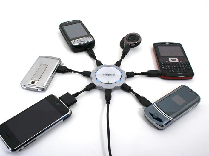telefony komórkowe - masowe ładowanie baterii