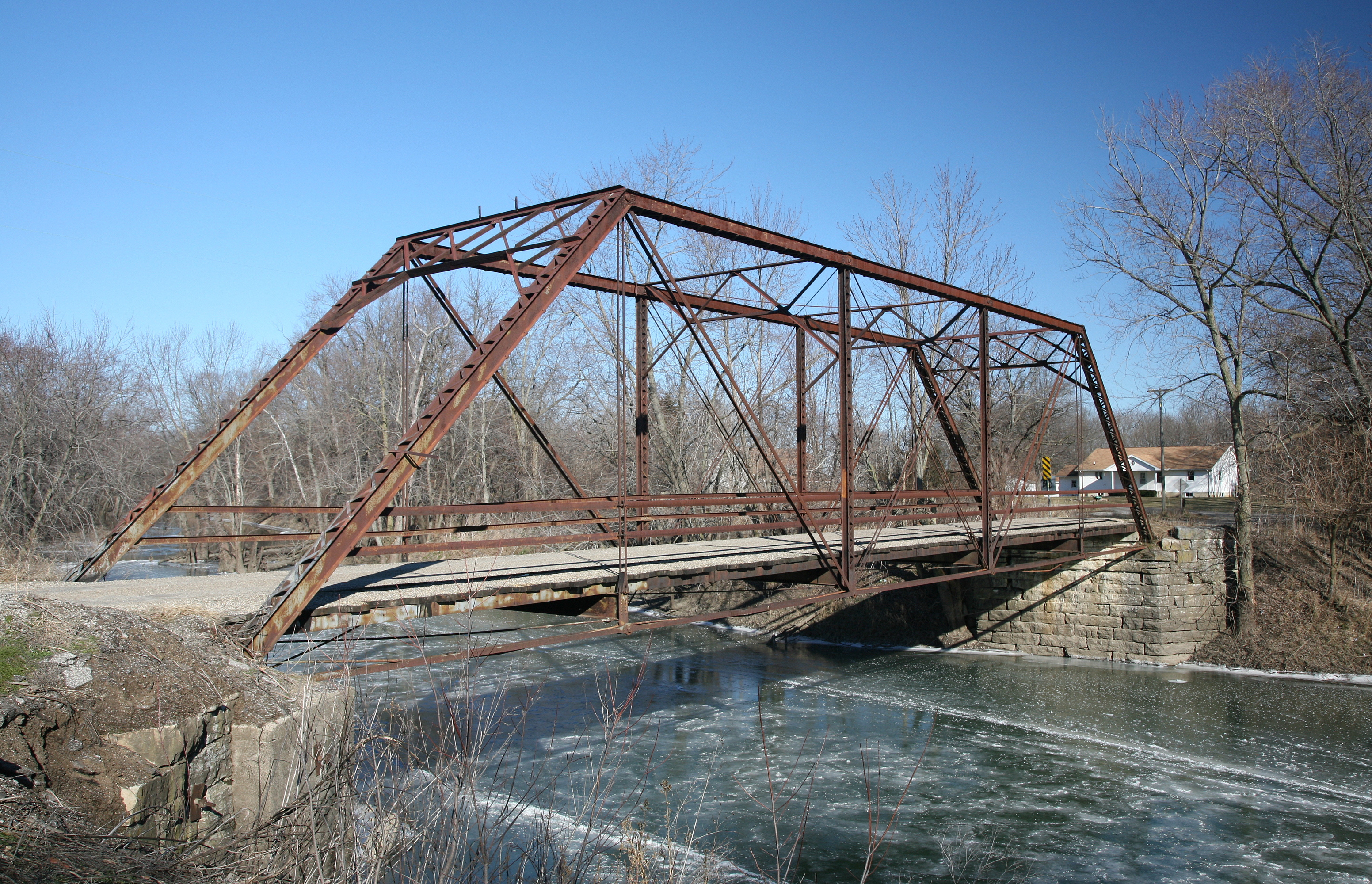 file chesterville iron truss bridge jpg wikimedia commons