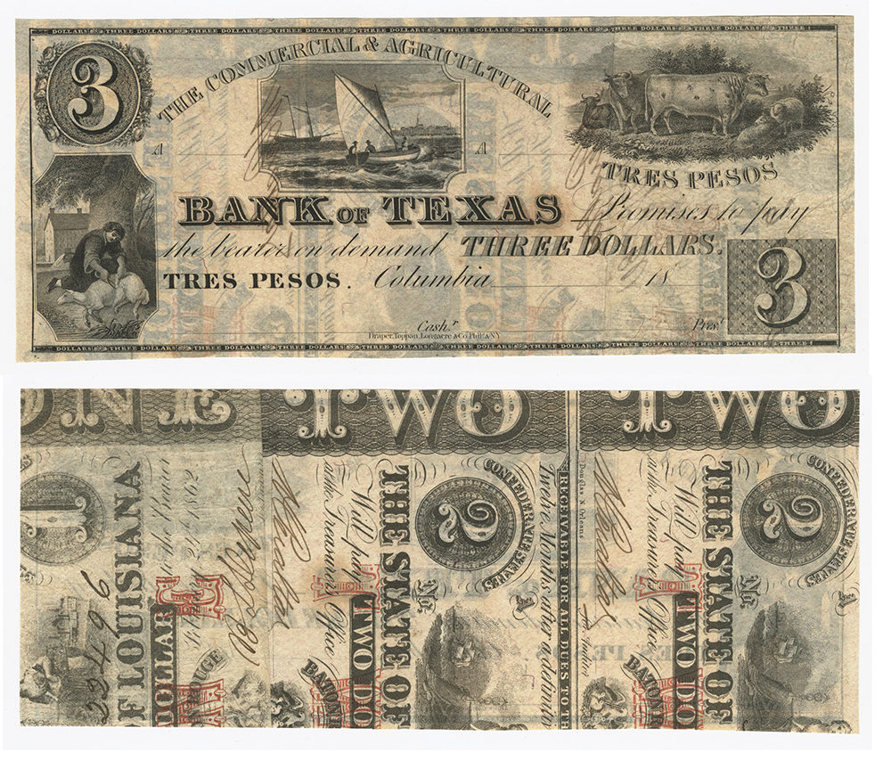 file commercial and agricultural bank of texas 3 00 three dollars