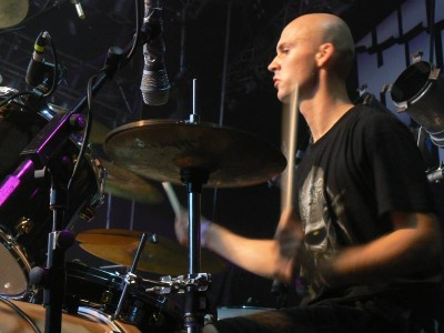 Vitek (pictured in 2006) was 15 years old during the recording sessions of Winds of Creation. Decapitated 06.jpg