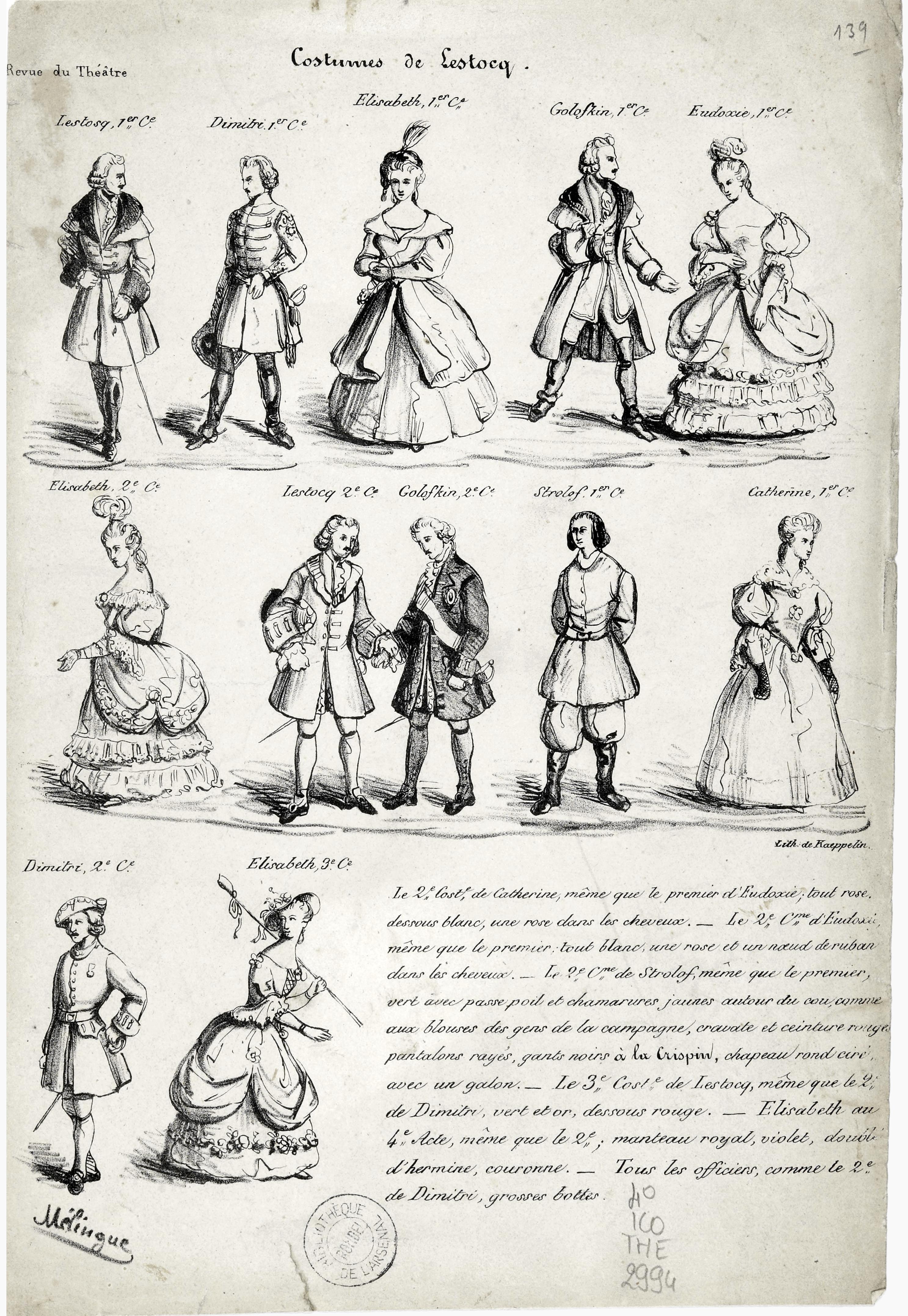 Fichierdessins De Planche De Costumes Par Mélingue Pour