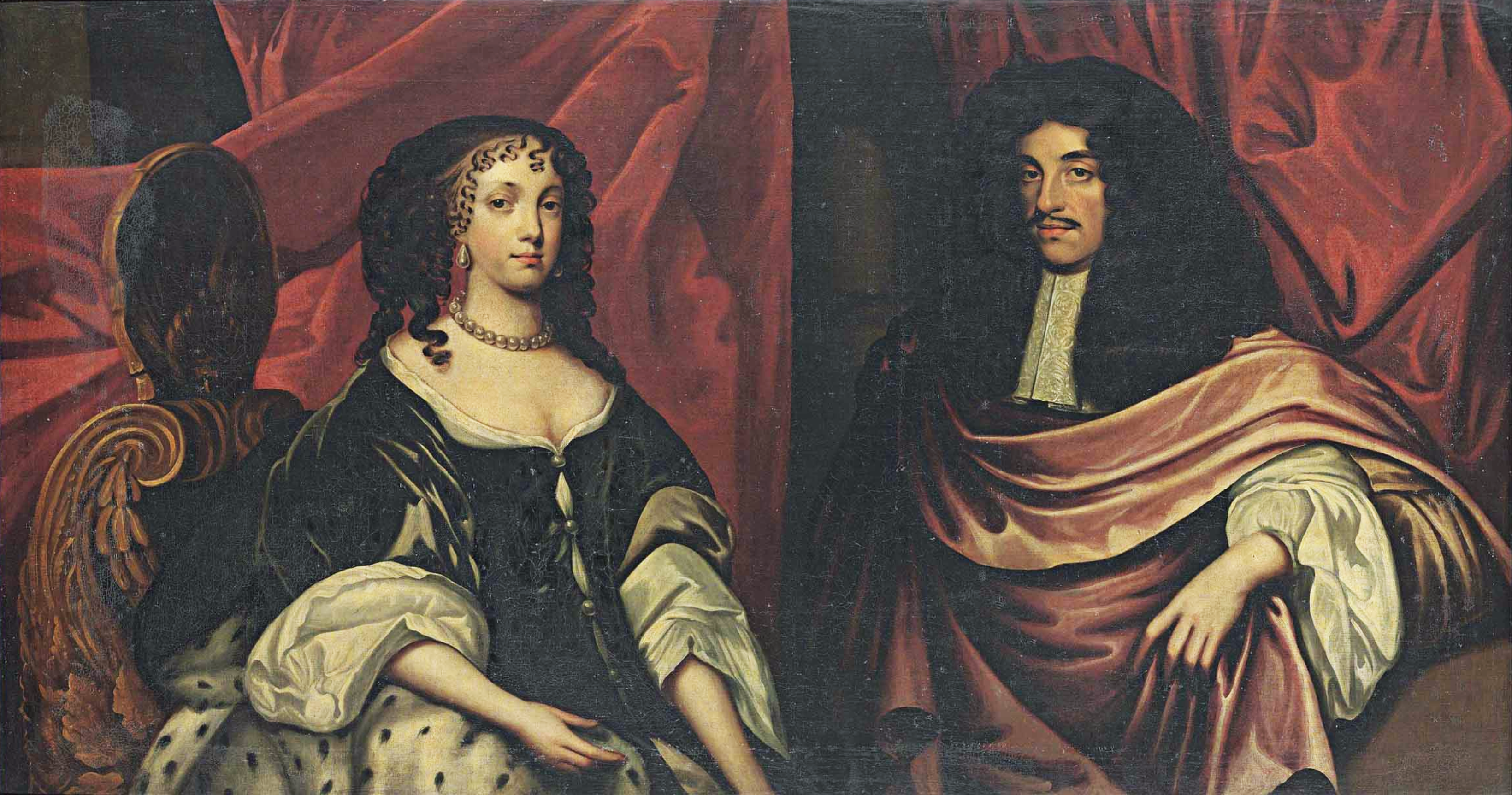 File:English School - King Charles II and Catherine of Braganza.png -  Wikimedia Commons