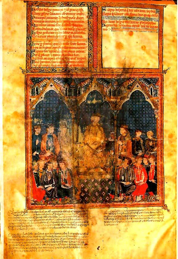 Manuscrito de la Estoria de España de Alfonso X el Sabio.