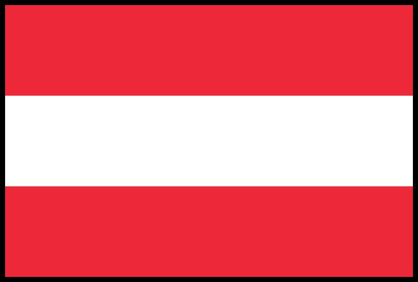 Risultati immagini per austria flag border