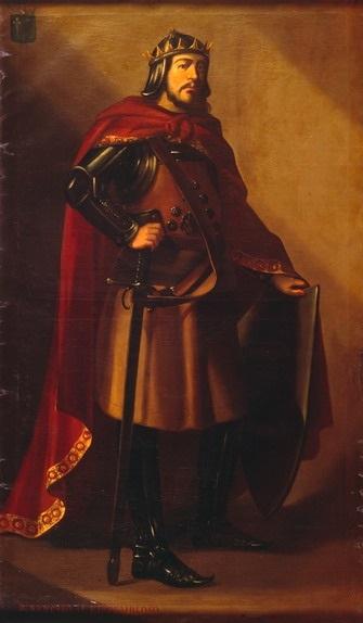 Retrato imaginario del rey García Sánchez II de Pamplona .