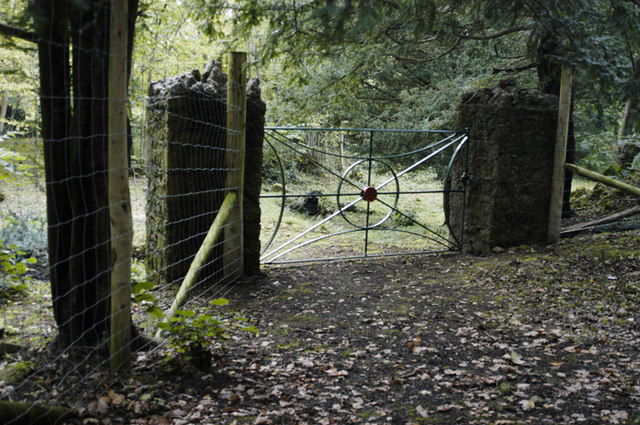 Gate in Eaves wood above Elmslack - geograph.org.uk - 1005241