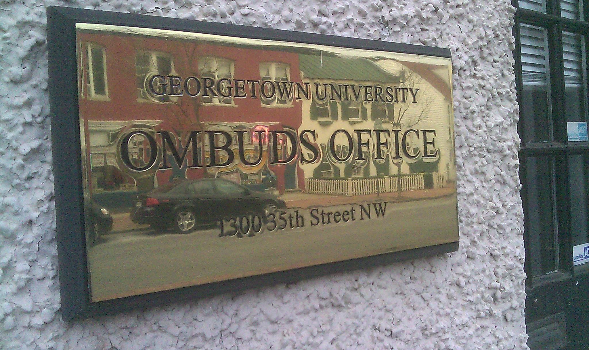 File:Georgetown University Ombudsman sign.jpg - Wikimedia ...