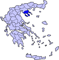 Location of Chalkidiki Prefecture in Greece