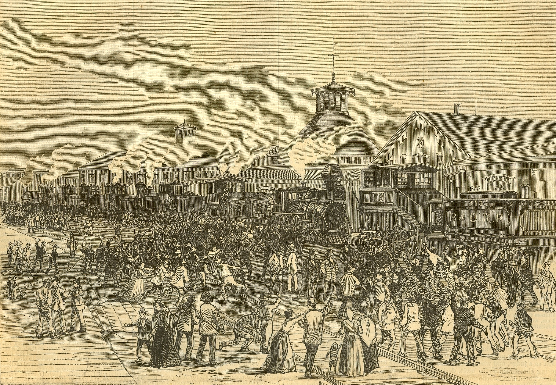 The Great Railway Strike of 1877 and Newspaper Coverage