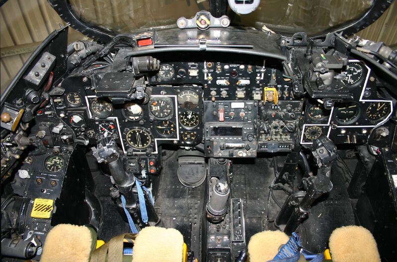 Hawker Hunter Cockpit