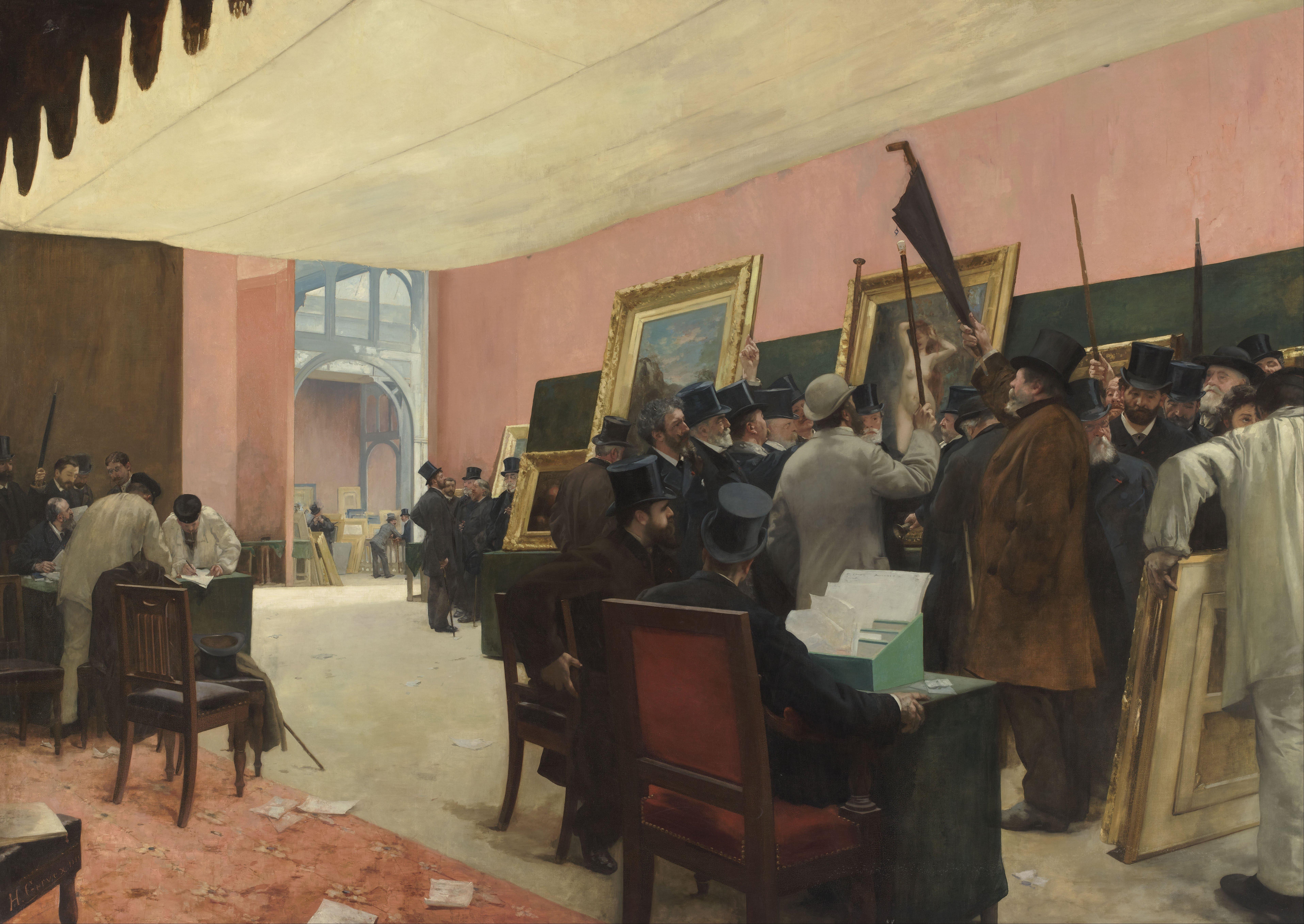 File henri gervex a session of the painting jury for Salon ce paris