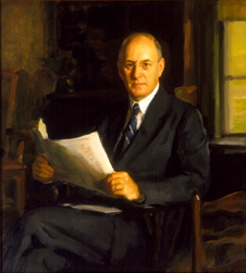 Henry Morgenthau, Jr., painting by David Silvette
