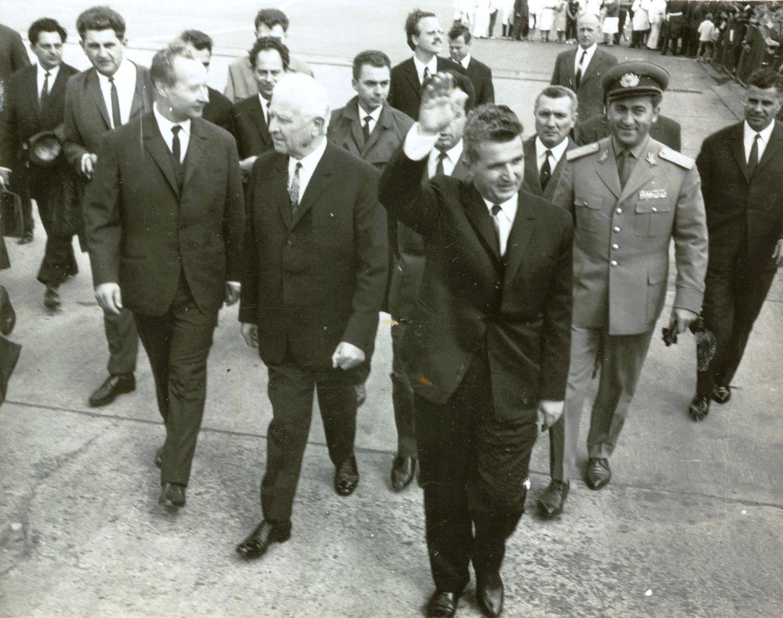 Чаушеску и Дубчек в Праге, 1968 год
