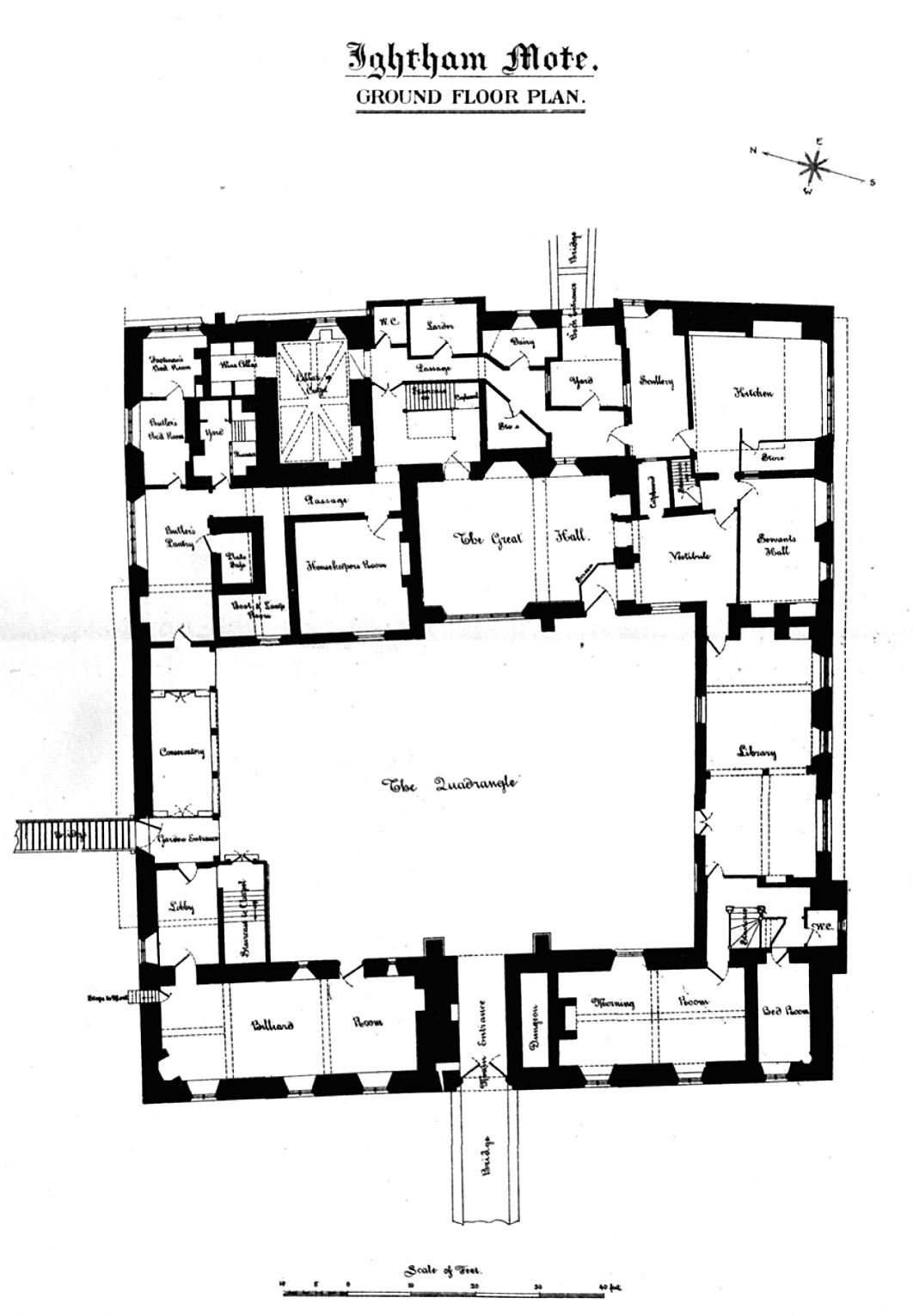 Ightham Mote Ground Floor Plan Wikipedia