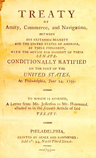 the history of jays treaty Historical context and the survival of the jay treaty free passage right 195 on a life of its own, as the subject of indian activism,16 congressional debate,17 and court scrutiny18 the jay treaty's indian free passage right also has been the subject of a.