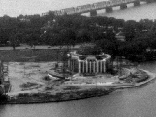 Jefferson Memorial under construction