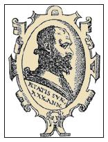 portrait of Carranza, from the frontispiece of   De la Filosofía de las Armas y de su Destreza  (1582)
