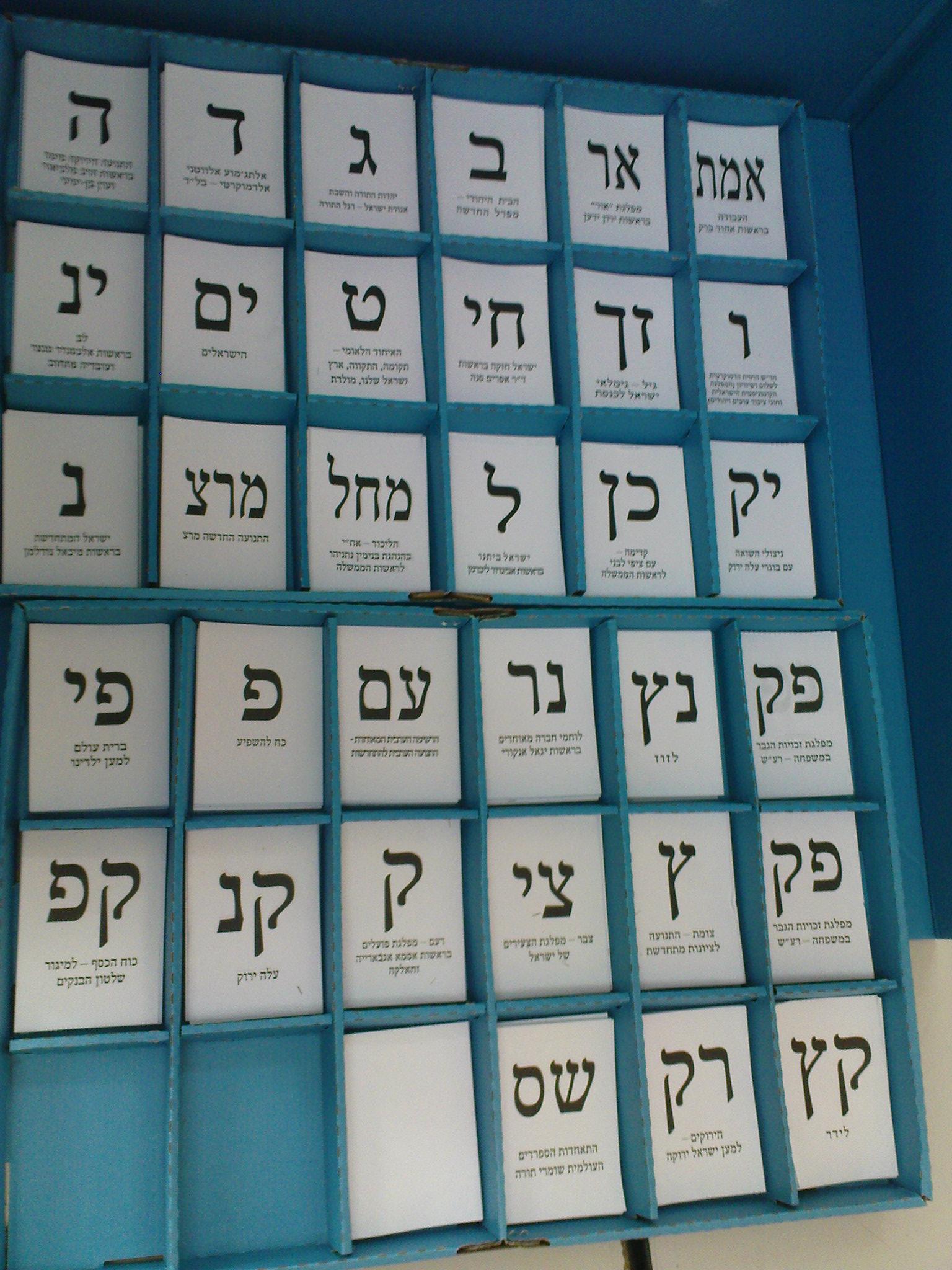 Israeli electoral system