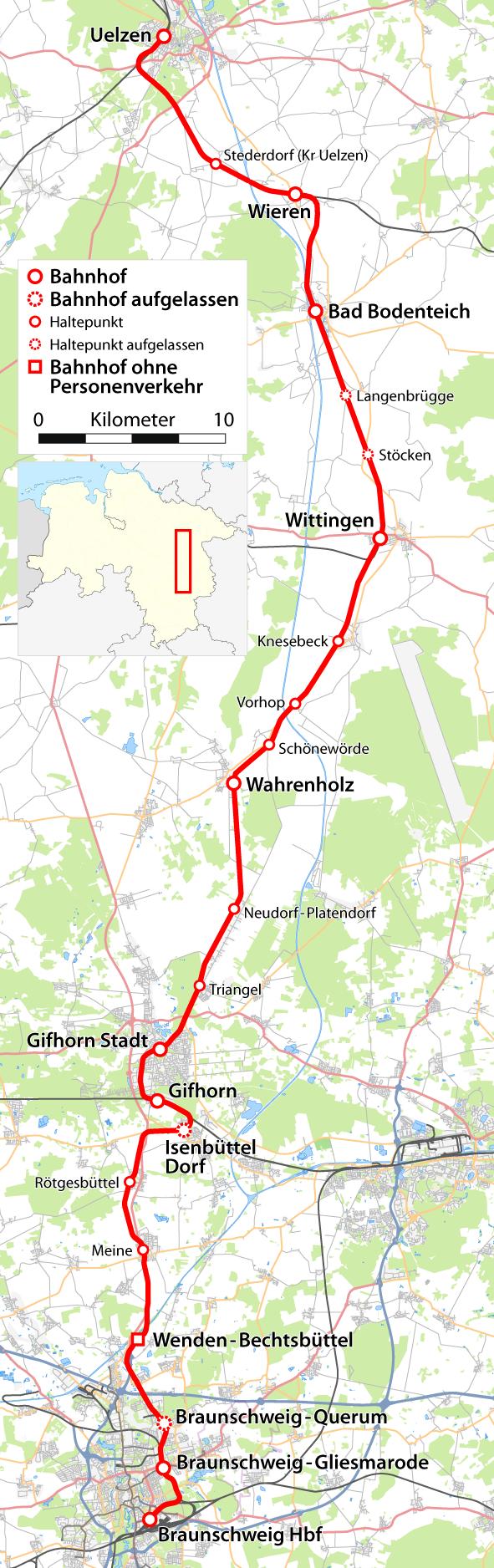 FileKarte der Bahnstrecke Uelzen Braunschweigpng Wikimedia Commons