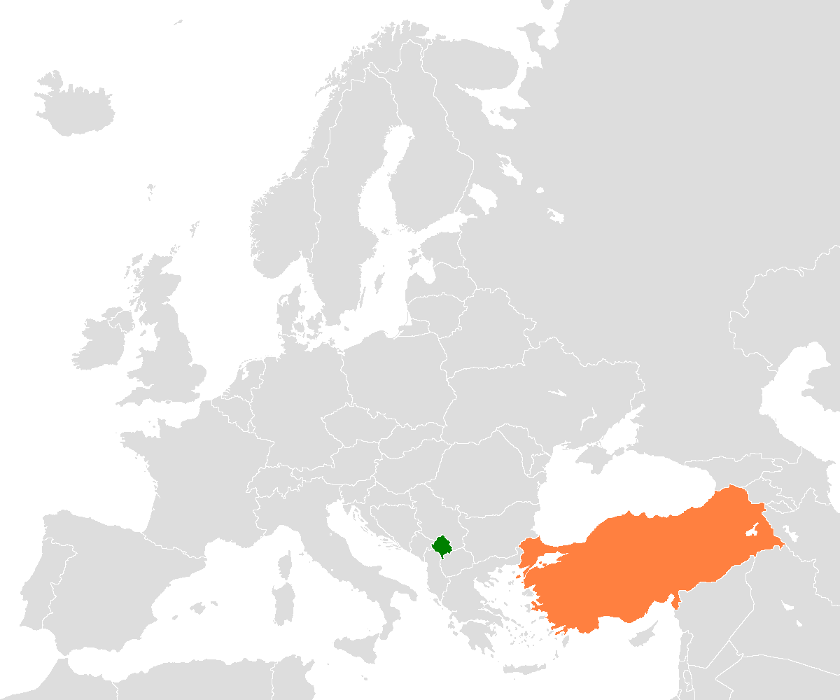 Map Of Europe And Turkey.Kosovo Turkey Relations Wikipedia