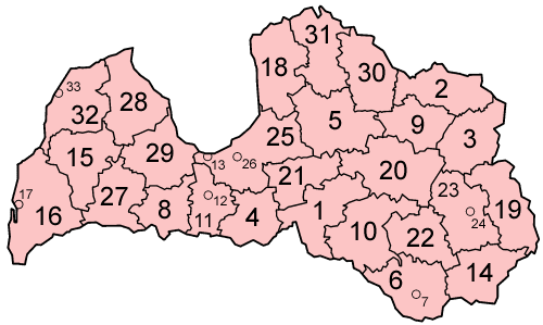 Файл:Latvia districts numbered.png
