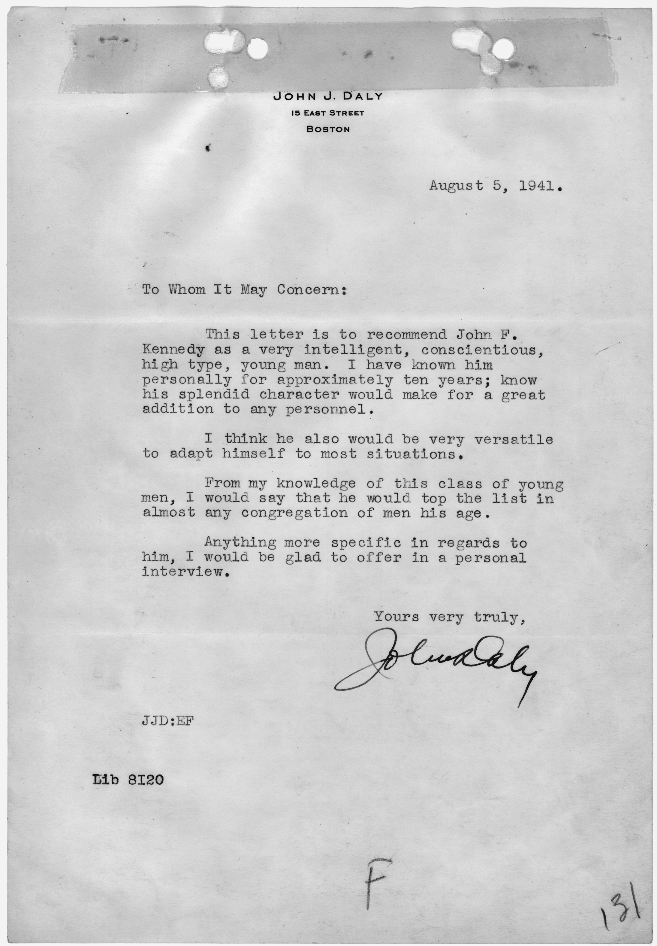 Fileletter of recommendation from john j daly nara 299710g fileletter of recommendation from john j daly nara 299710g spiritdancerdesigns Image collections