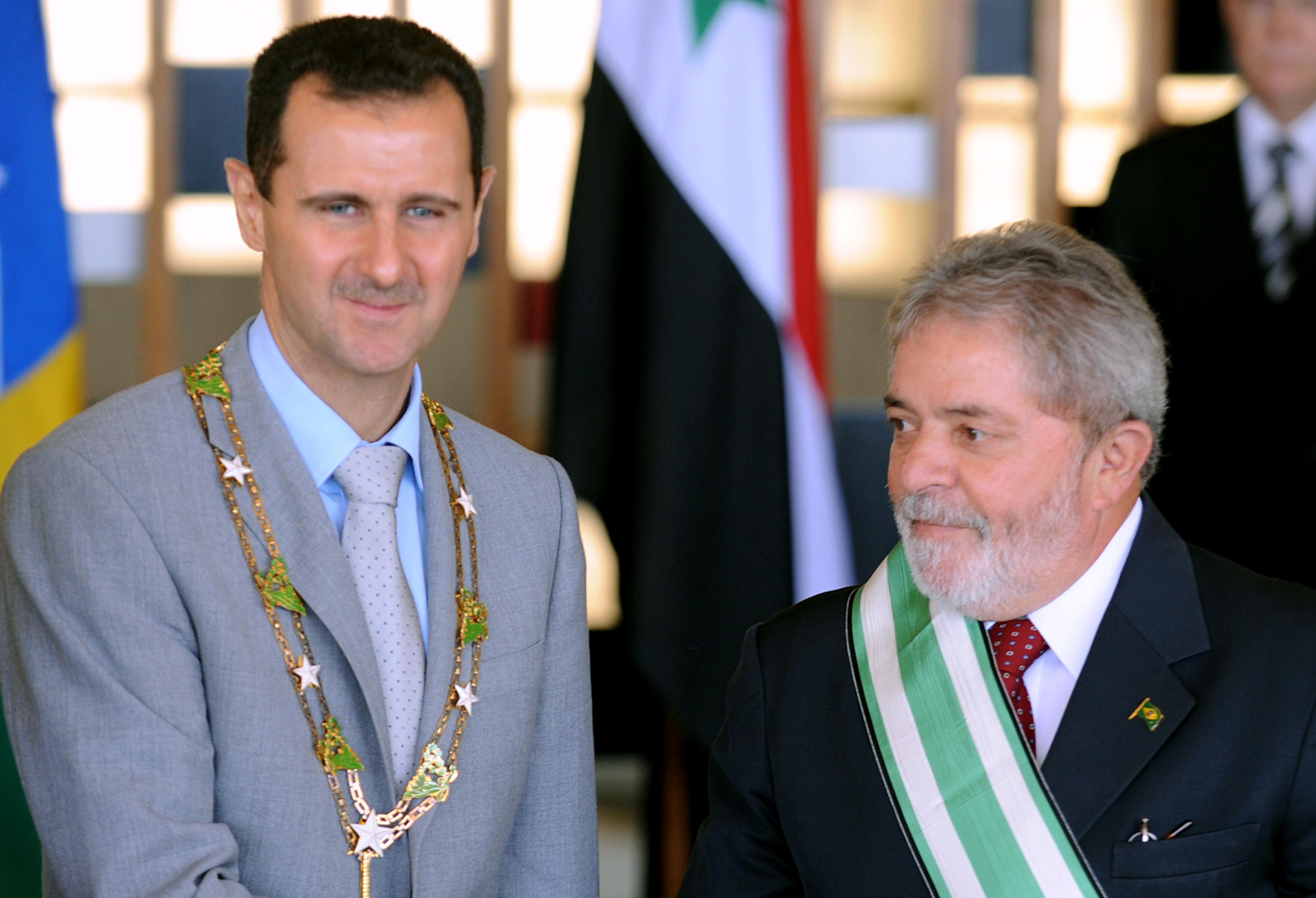 GUERRA CIVIL EN SIRIA Lula_Al-Assad_Itamaraty_2010