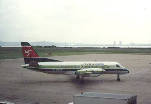 File:Manx Airlines Saab SF340A at Liverpool.jpg