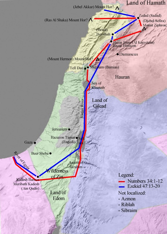 FileMap Land of Israeljpg  Wikimedia Commons