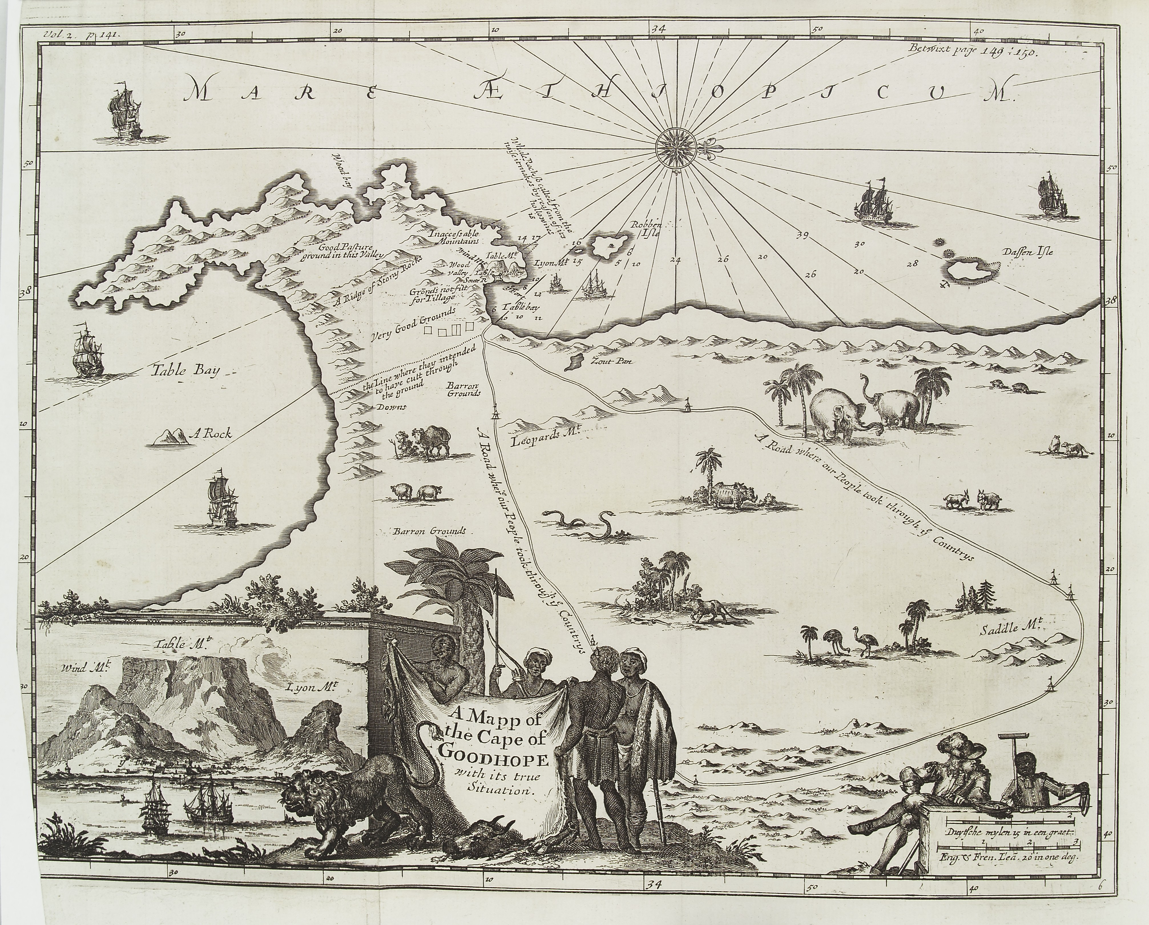 File:Map of the Cape of Good Hope, South Africa. Wellcome L0037786 ...