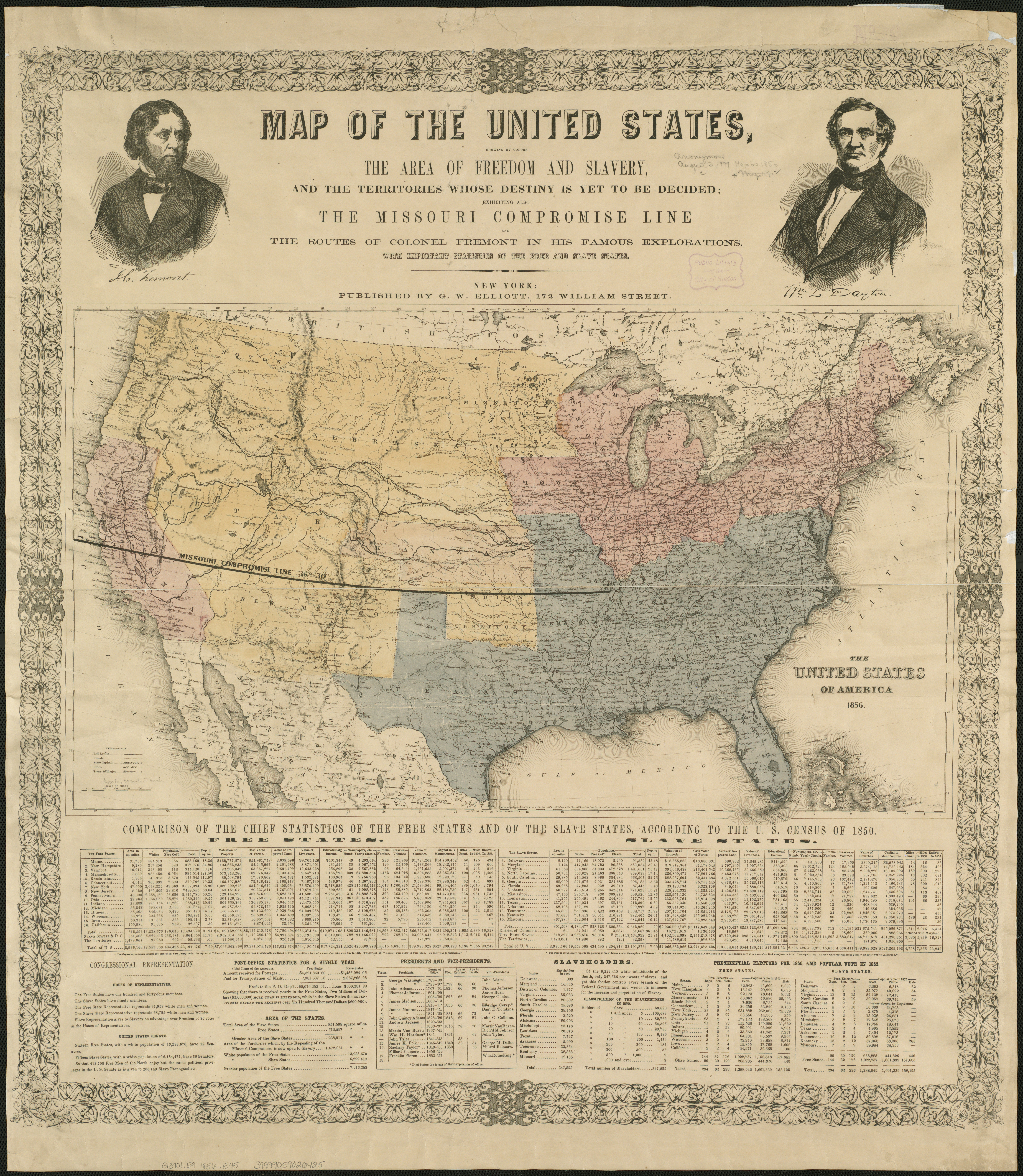 File Map Of The United States Showing By Colors The Area Of Freedom And Slavery And The Territories Whose Destiny Is Yet To Be Decided Exhibiting Also