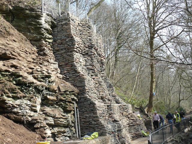 Mock drystone wall - geograph.org.uk - 1216851