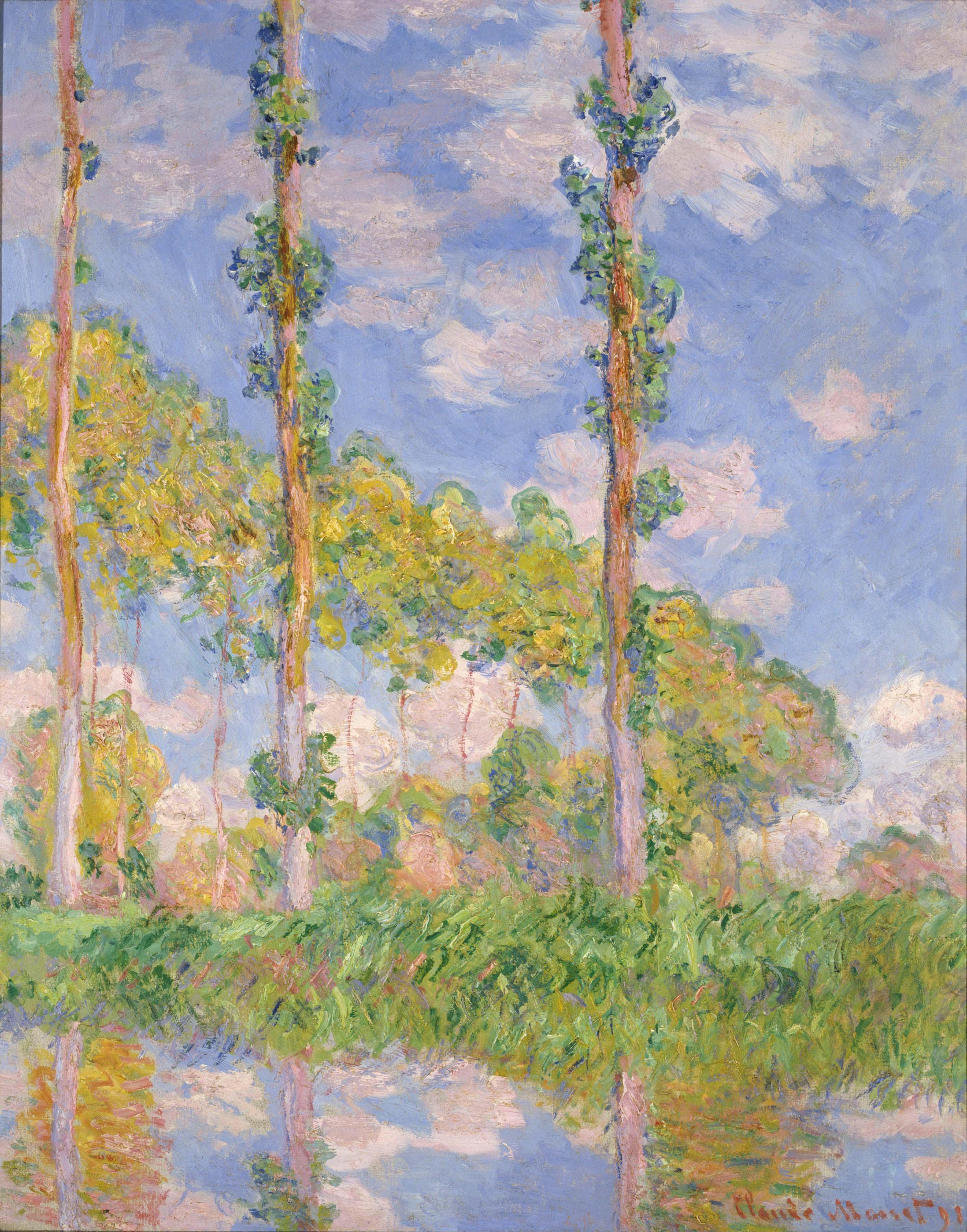 Monet Poplars in the Sun