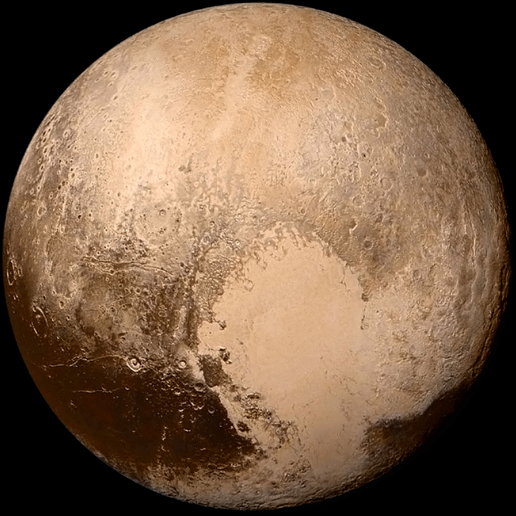 Pluto as imaged by the New Horizons probe on 14 July