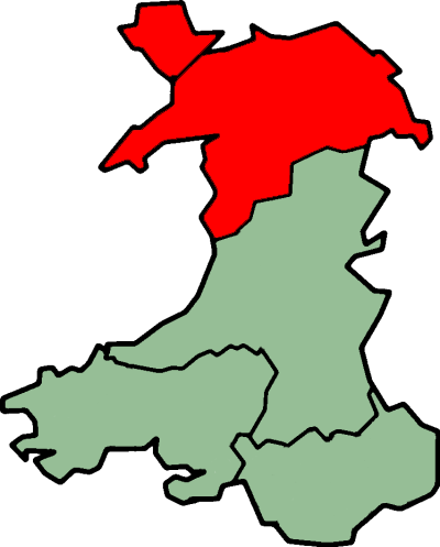 Unofficial region of North Wales North Wales (1).png