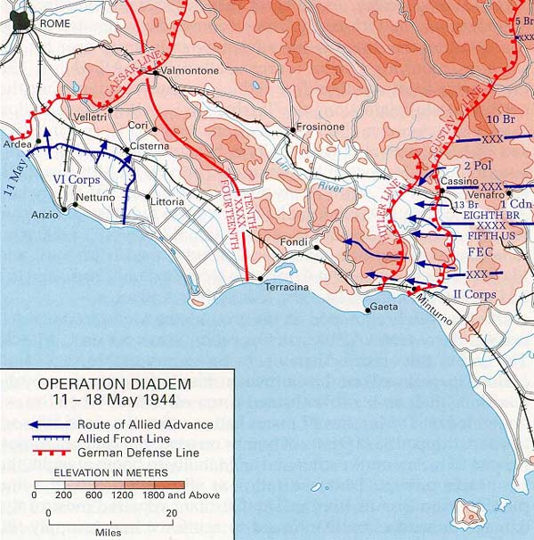 Allied plan of attack for Operation Diadem, May 1944 OperationDiademMay1944.JPG